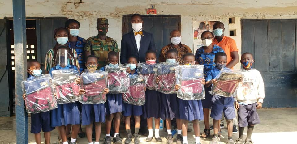 Politician donates Ghana mad school bags to students