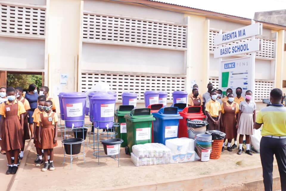 Zoomlion donates sanitation, covid-19 logistics to Adenta schools