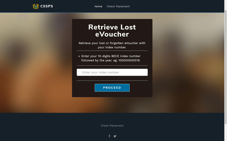 How to retrieve forgotten SHS placement eVoucher