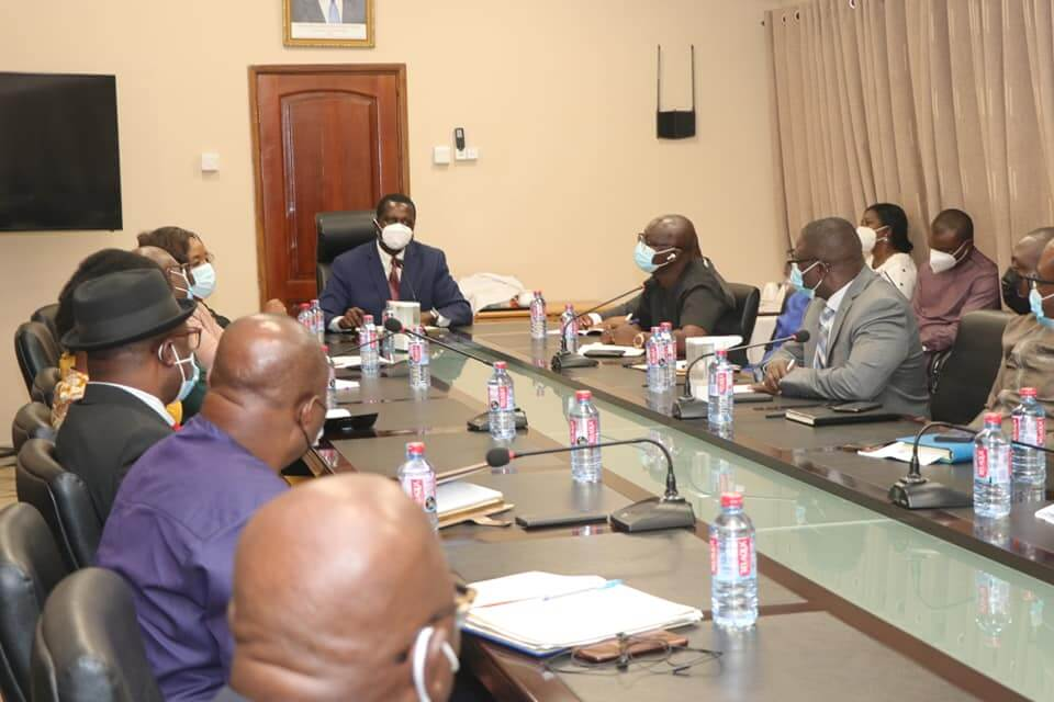 Dr Adutwum meets MoE Management, Agency Heads and Staff
