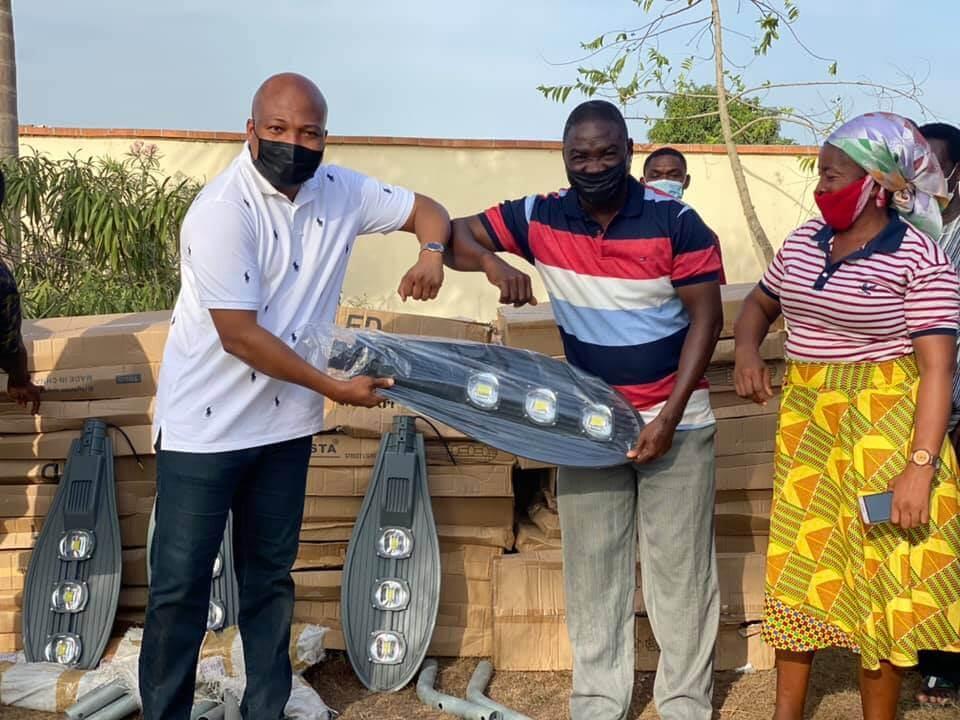 Ablakwa donates LED street lights to 150 schools