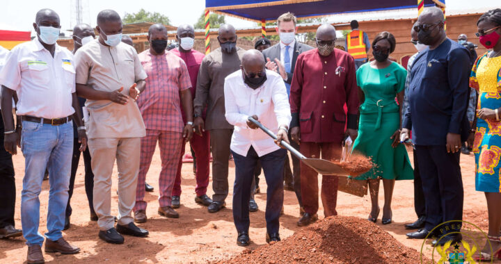 Akufo-Addo cut sod for construction of Ghana Award House