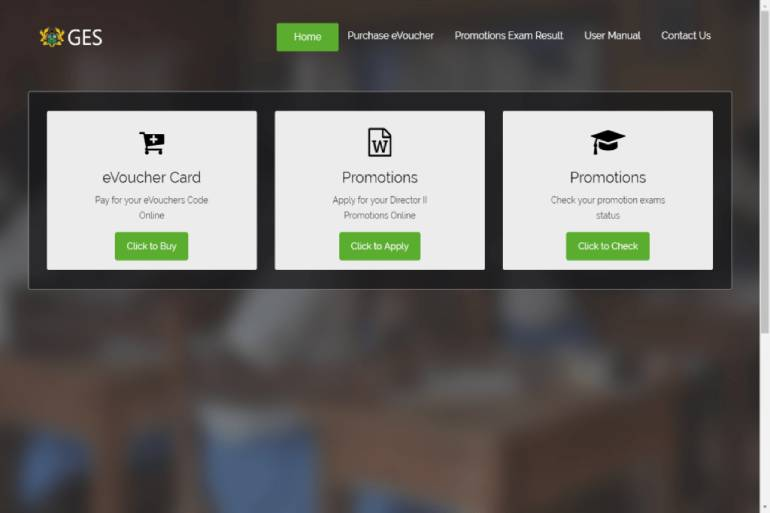 GES closes 2021 teachers promotion results checking portal