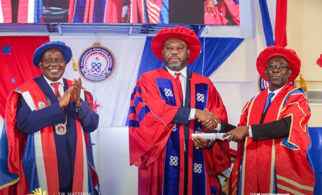 UEW awards NAPO doctorate degree for successful Free SHS