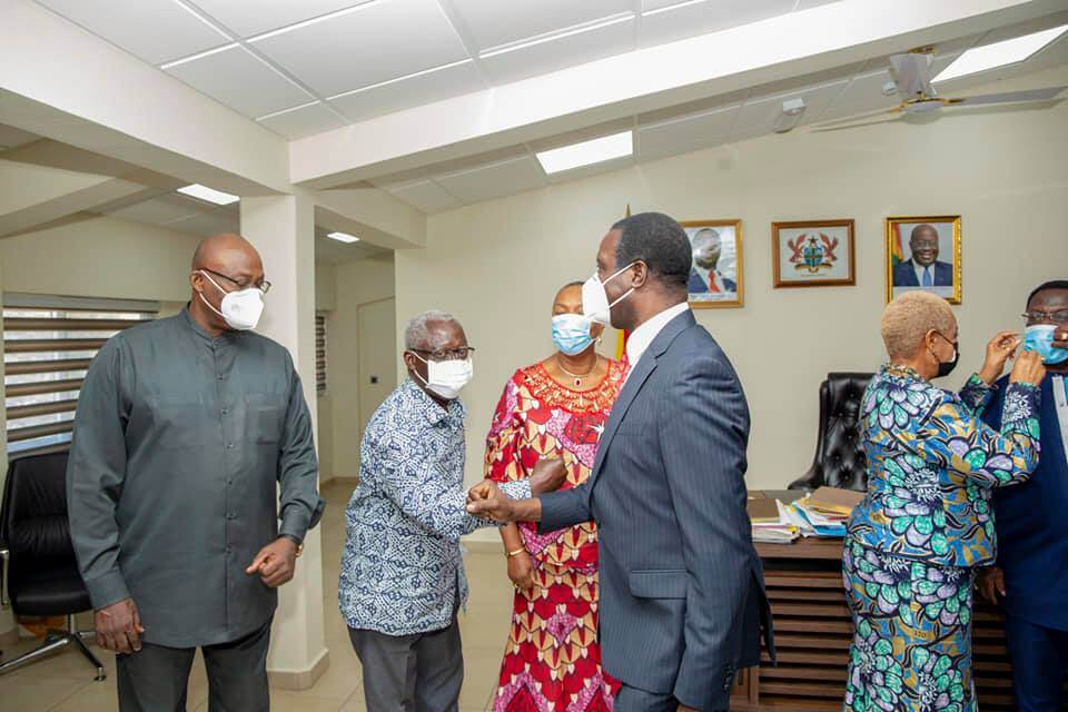 Past Education Ministers visits Minister of Education, Dr Adutwum