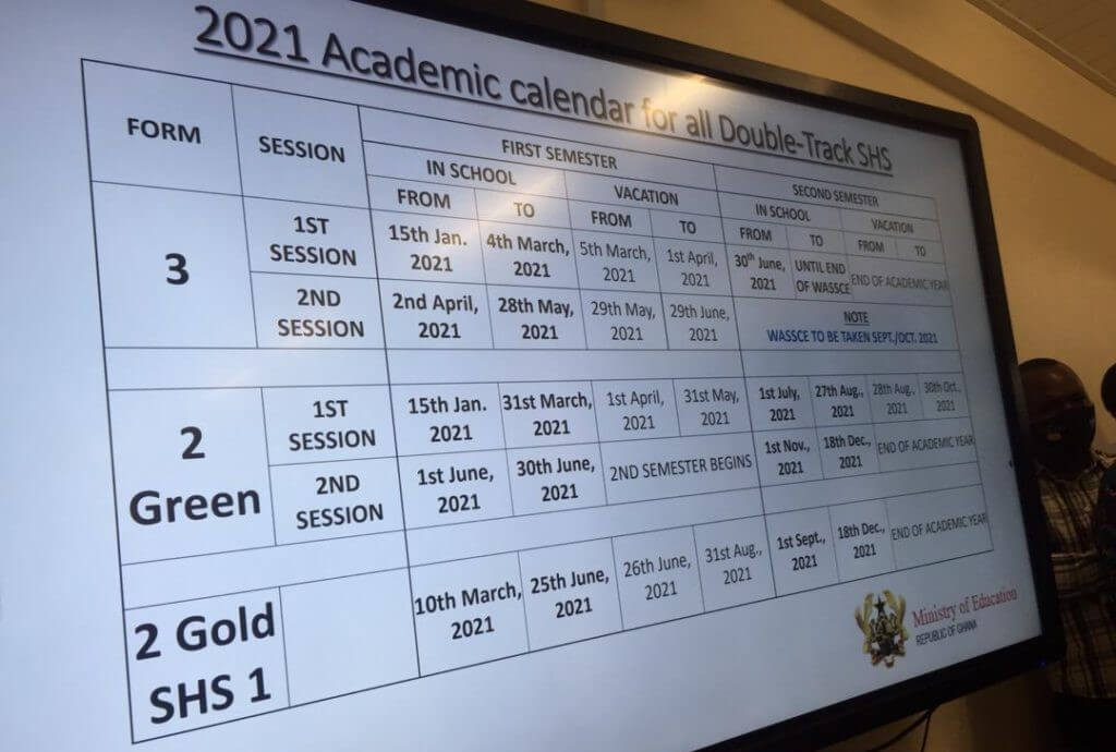 GES denies change of 2021 gold track Senior High School calendar