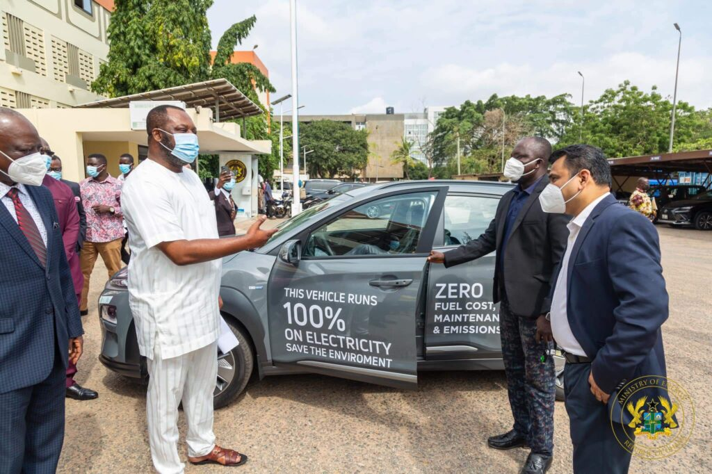 Former Education Minister, NAPO receives Ghana's first electric car