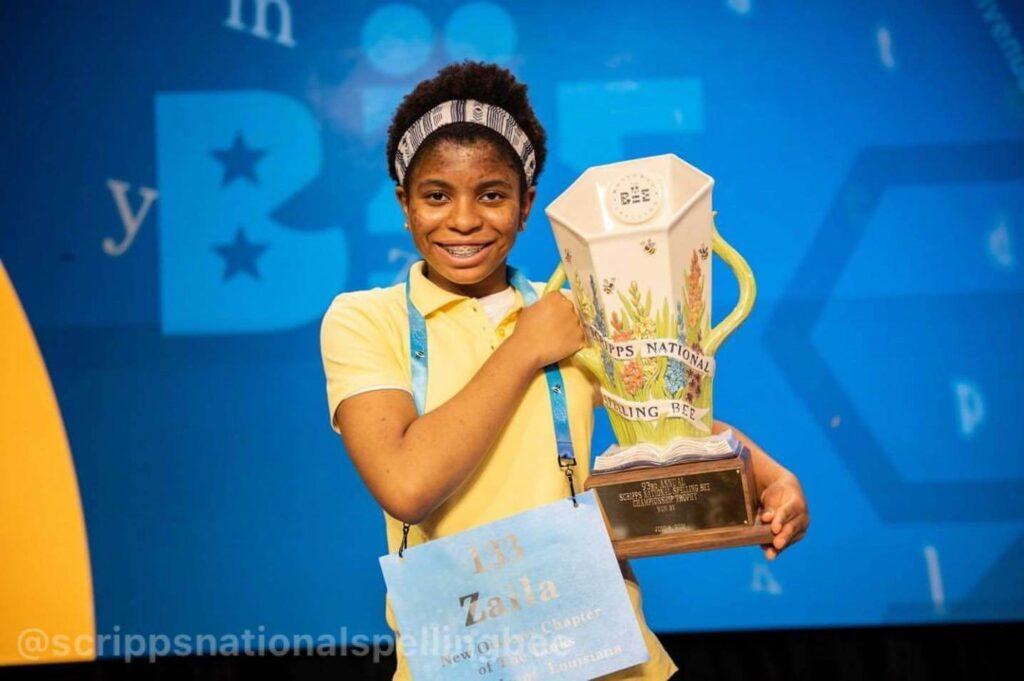 Organizers of Ghana's spelling programme, The Spelling Bee - GH has congratulated 14-year old Zaila Avant-garde, a student of Clover Lane Home school for emerging the winner of the 2021 Scripps National Spelling Bee competition.