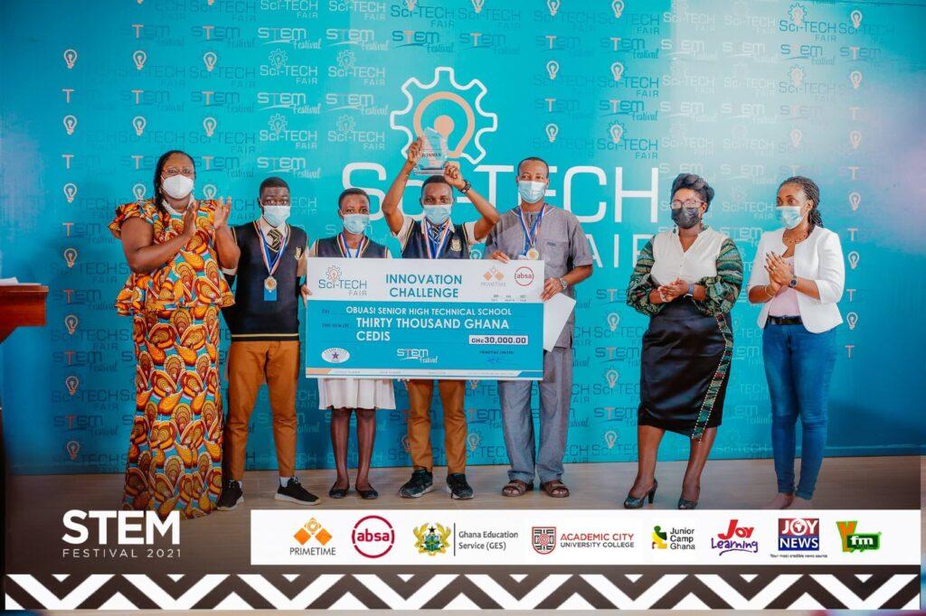 Obuasi SHTS wins Primetime maiden Sci-Tech Innovation Challenge