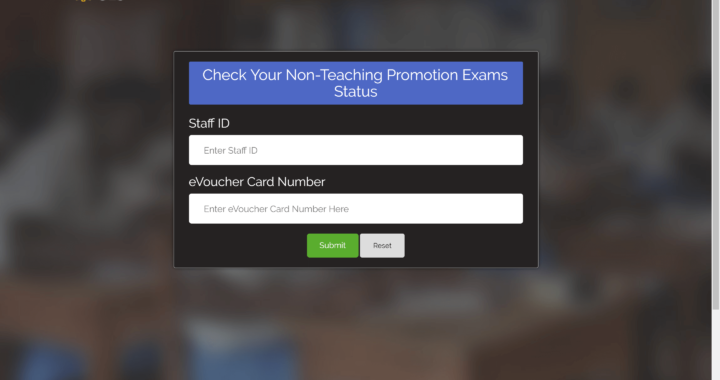 How to check your non-teaching promotion exams results 2021